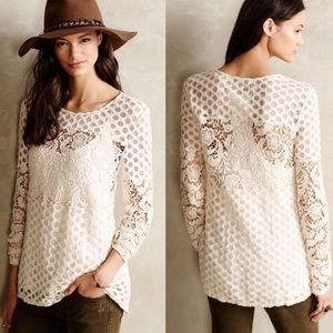 Anthro Sunday in Brooklyn Interlude Lace Top